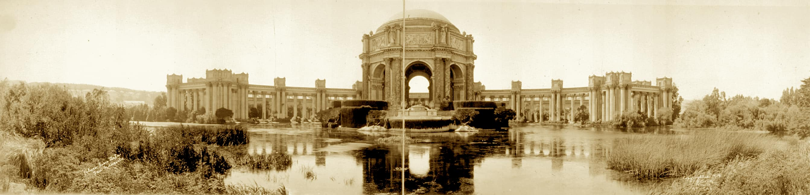 Original Palace of Fine Arts Panorama 1918