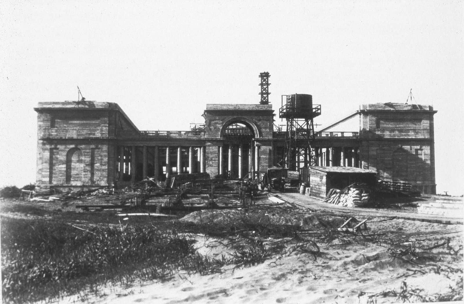 Legion of Honor Museum Construction historical photo
