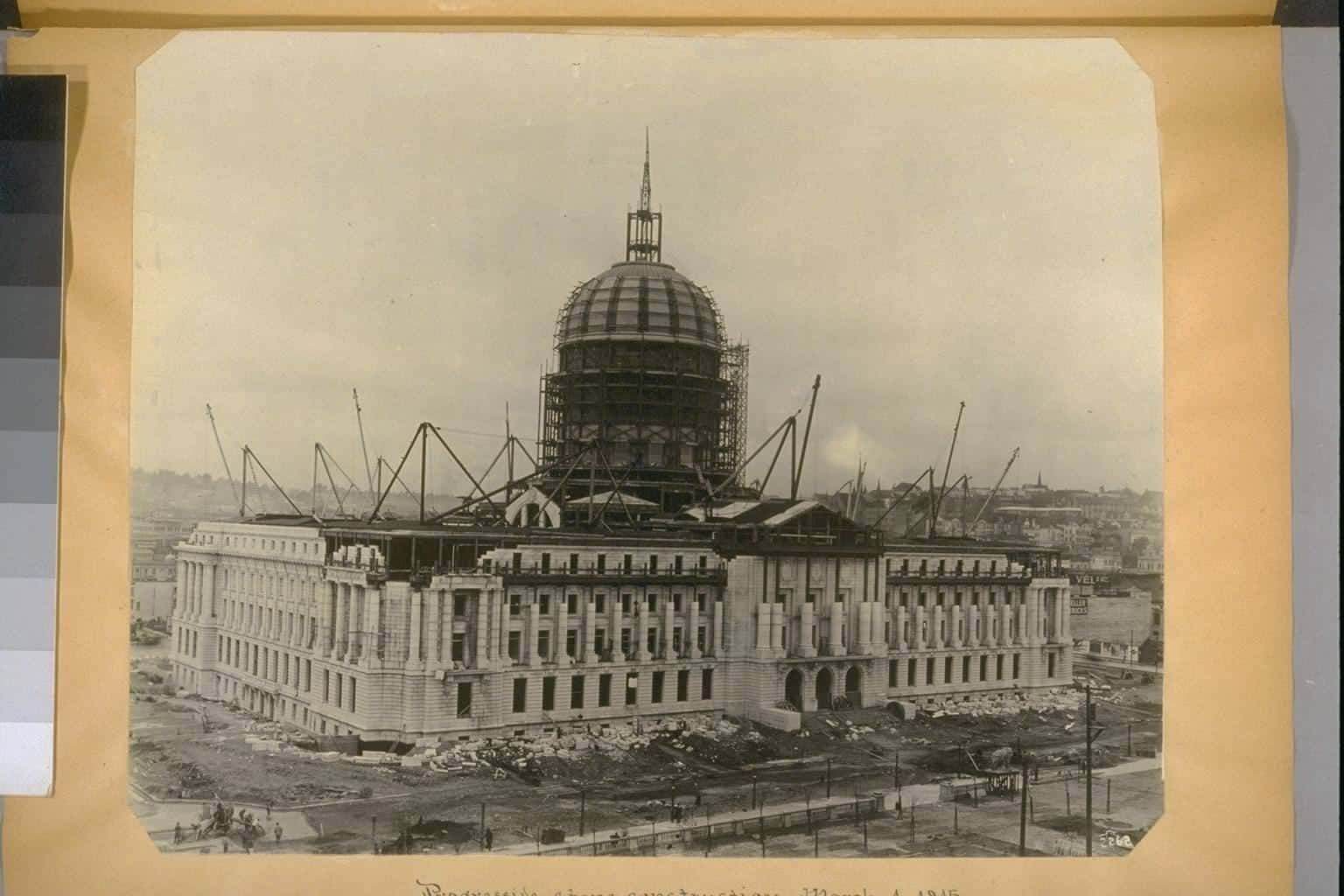 San Francisco's new city hall during construction 1914