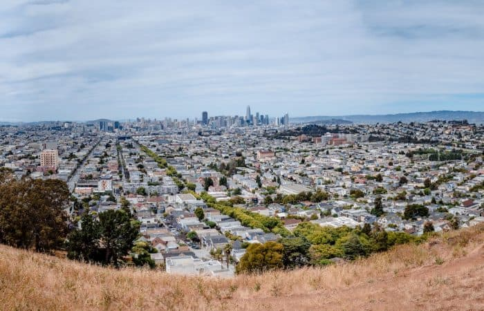 Bernal Heights Park panoramic view